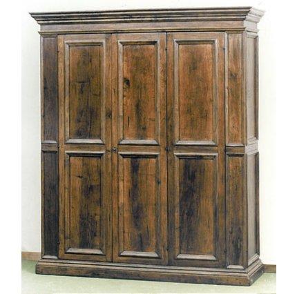 Cheap armadio a tre ante in stile seicento toscano realizzata su misura in massello di noce - Mobili stile toscano ...