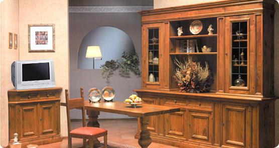 Excellent sala in stile seicento toscano realizzata in massello di noce nazionale completa di - Mobili stile toscano ...